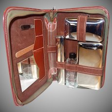 Vintage 1960's Men's Travel Grooming Kit with Original Hang Tag
