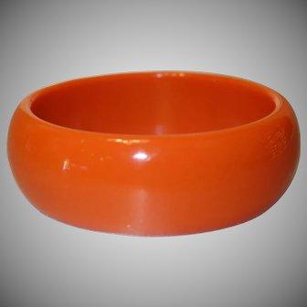 Vintage Orange Lucite Bangle Bracelet