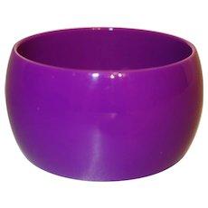 Vintage Wide Purple Lucite Bangle Bracelet