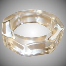Vintage Clear Octagon Lucite Bangle Bracelet