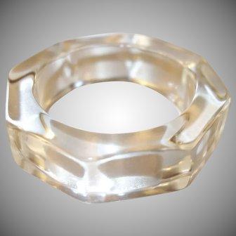 Vintage Clear Octagon Lucite Bangle Bracelet