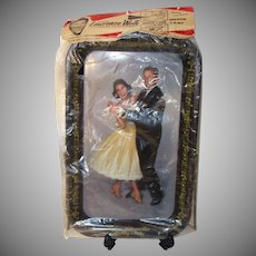 Vintage Lawrence Welk Grip-On Snack Tray with Picture Stand in Original Package