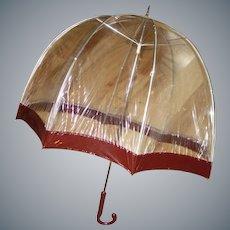 Vintage Sixties Domed Bubble Umbrella
