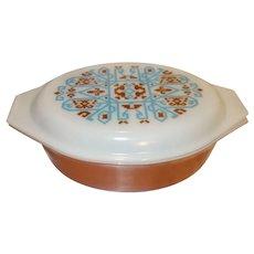 Pyrex Aztec Navajo 2 1/2 qt Covered Casserole Dish