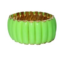 Vintage Neon Green Lucite Expansion Bracelet