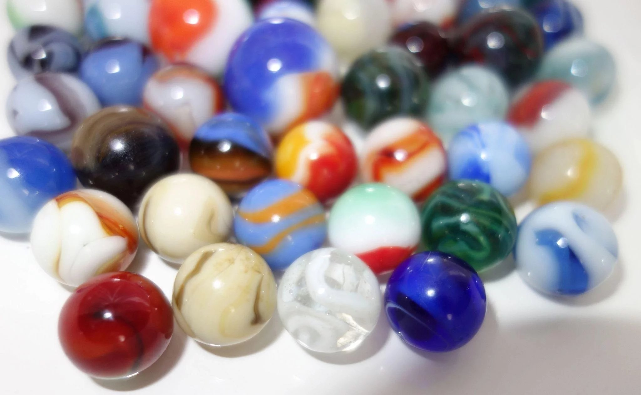 Vintage Marbles Lot Akro Agate Peltier Cac Marble