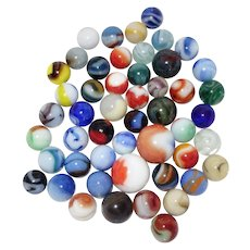Vintage Marbles Lot Akro Agate ~ Peltier ~ CAC ~Marble King