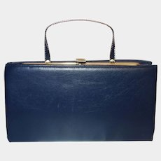 85dcfe49c821 Vintage Navy Blue Convertible Clutch Purse by Ande. Vintage Vault
