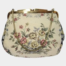 6a08632a157e Vintage Floral Tapestry Purse Made in Western Germany. Vintage Vault