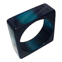 Stunning Teal Square Lucite Bracelet