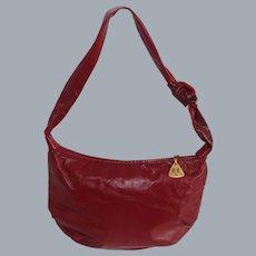 Vintage Morris Moskowitz Red Leather Hobo Bag
