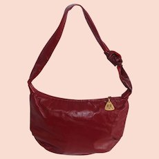 Vintage Morris Moskowitz Red Leather Hobo Bag