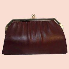 aa08d70389a35 Gorgeous! Vintage Fendi Black Leather Stripe Envelope Clutch with ...