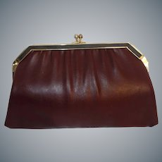 Vintage Burgundy Convertible Clutch Purse by Ande