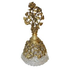 Vintage Ornate Filigree Perfume Bottle with Dauber