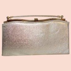Vintage Gold Tone Convertible Clutch Handbag by Ande`