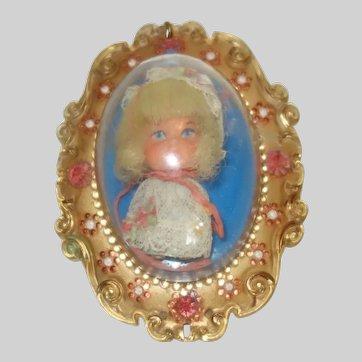 """Vintage Lucky Locket Kiddle """"Larky"""" by Mattel 1966"""