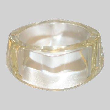 Vintage Clear Sculptural Lucite Bangle Bracelet