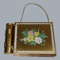 Vintage Gold Tone Metal Carryall/Cigarette Case