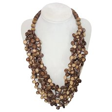 Vintage Boho Multi Strand Tribal Necklace