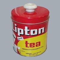 Vintage Lipton Tea Button-Top Tin