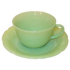 Fire King Jadeite Alice Cup and Saucer