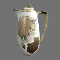 Antique chocolate pot Royal Austria Gutherz c. 1898
