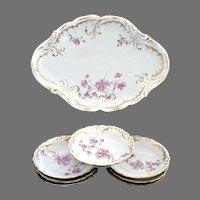 Antique porcelain ice cream tray bowls Austria c. 1907