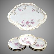 Antique porcelain ice cream tray bowls Austria c. 1907