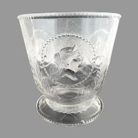 EAPG glass sugar bowl Ceres Beaded Medallion Atterbury