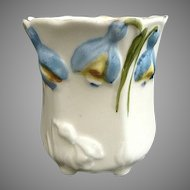 German porcelain toothpick holder tulip mold