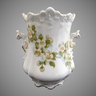 Antique spooner vase Eglantine dogwood blossoms Hermann Ohme