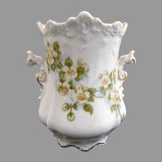Antique spooner vase Eglantine dogwood blossoms Hermann Ohme