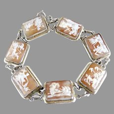 Italian silver cameo bracelet seven days of the week Greek theme