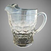 Vintage depression glass lemonade pitcher honeycomb pattern
