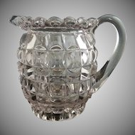 Antique glass cream pitcher Late Block Duncan  c.1889