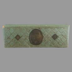 Victorian stationary box calling card box cameo c. 1890s