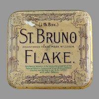 Antique tobacco tin Imperial Tobacco Co. St. Bruno Flake