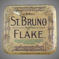 Antique tobacco tin Imperial Tobacco Co.St. Bruno Flake