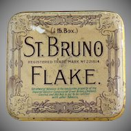 Antique tobacco tin Imperial Tobacco Co.St. Bruno Flake