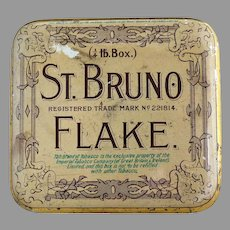 Antique tobacco tin Imperial Tobacco Co. St. Bruno Flake