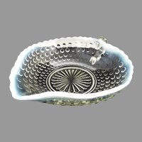 Hobnail opalescent nappy Moonstone by Anchor Hocking