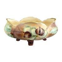 Antique porcelain bowl hand painted chestnuts J&C Bavaria