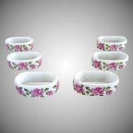 Vintage porcelain napkin rings KPM Bavaria original box