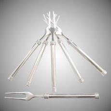 Vintage shrimp forks mid Century modern