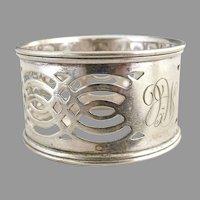 Antique silver napkin ring pierced design