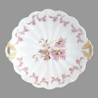 Antique porcelain cake plate raised dot R.S. Prussia c. 1880s