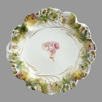 Antique Rosenthal cake plate daisies c. 1890s