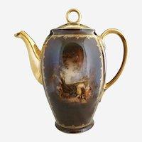 Carlsbad porcelain coffee pot Greek portrait c. 1920