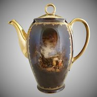 Carlsbad porcelain coffee pot Greek portrait c. 1920